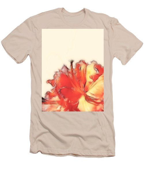 Coral Rhododendron Men's T-Shirt (Athletic Fit)