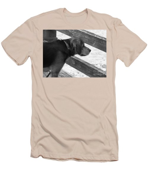 Corby In B And W Men's T-Shirt (Slim Fit) by Erick Schmidt