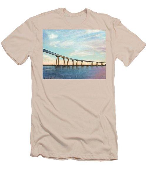 Coronado Bridge Sunset A Men's T-Shirt (Athletic Fit)