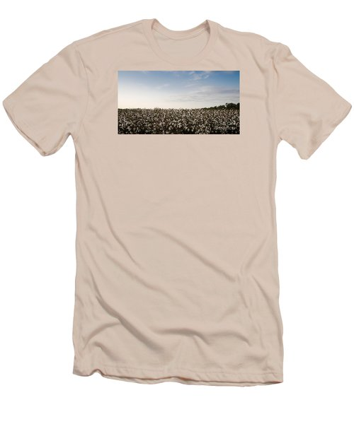 Cotton Field 2 Men's T-Shirt (Slim Fit) by Andrea Anderegg