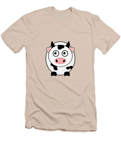 Cow - Animals - Art For Kids Men's T-Shirt (Athletic Fit)
