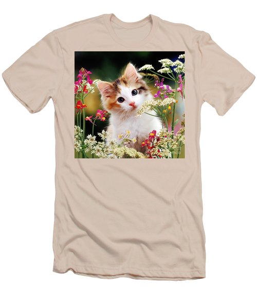 Cow Parsley Cat Men's T-Shirt (Athletic Fit)