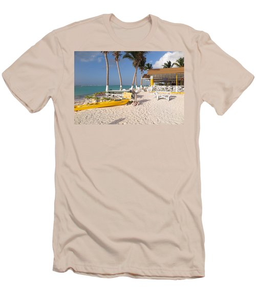 Men's T-Shirt (Slim Fit) featuring the photograph Cow Wreck Bay Beach Bar 2 by Eric Glaser