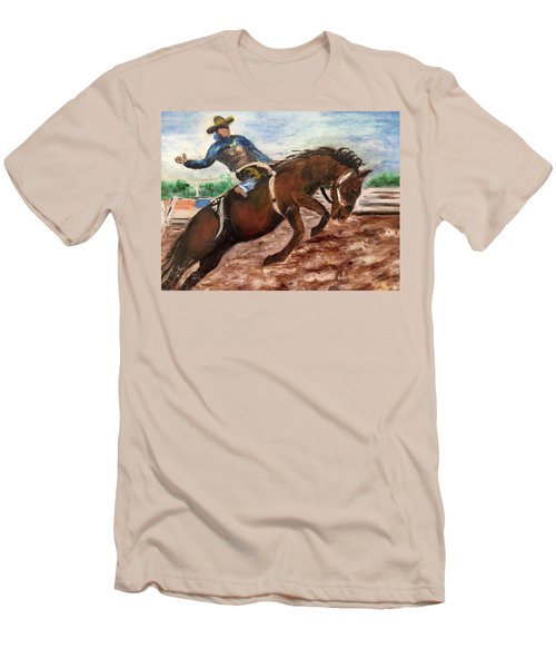 Cowboy In A Rodeo Men's T-Shirt (Athletic Fit)