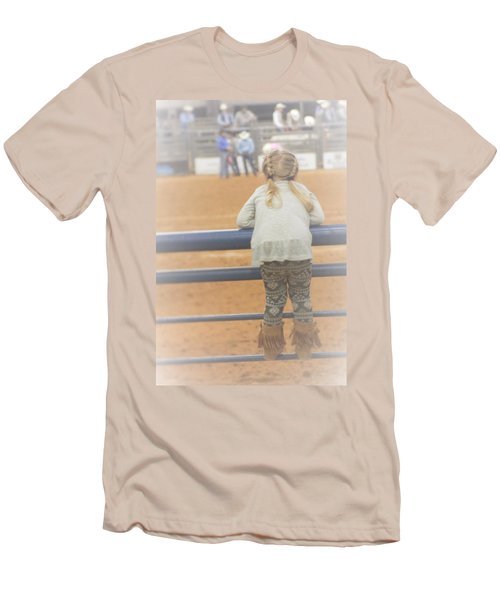 Men's T-Shirt (Slim Fit) featuring the photograph Cowgirl Hatchling by John Glass