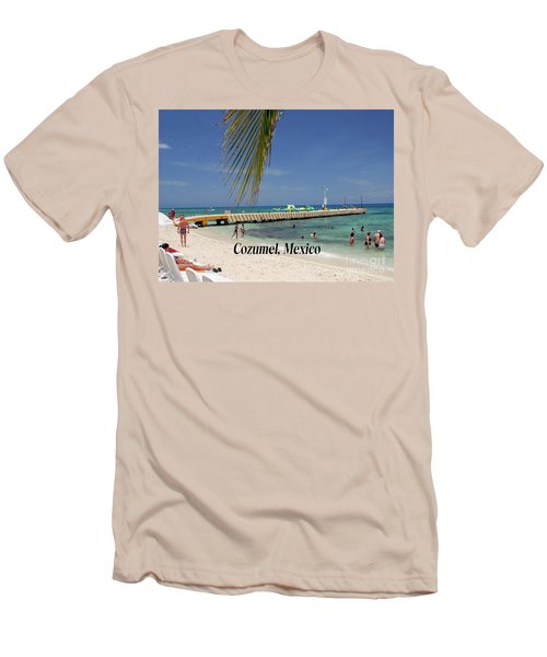 Cozumel Mexico Men's T-Shirt (Slim Fit) by Gary Wonning
