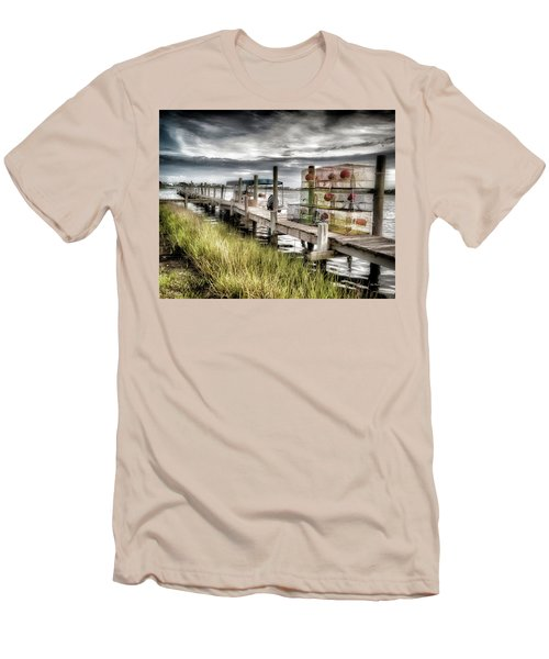 Crabber's Dock, Surf City, North Carolina Men's T-Shirt (Athletic Fit)