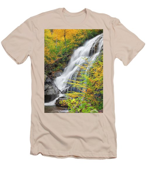 Crabtree Falls In The Fall Men's T-Shirt (Slim Fit) by David Cote