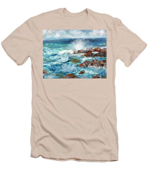Crashing Waves Men's T-Shirt (Slim Fit) by Walter Fahmy