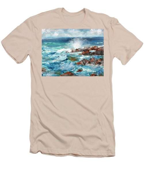 Crashing Waves Men's T-Shirt (Slim Fit)