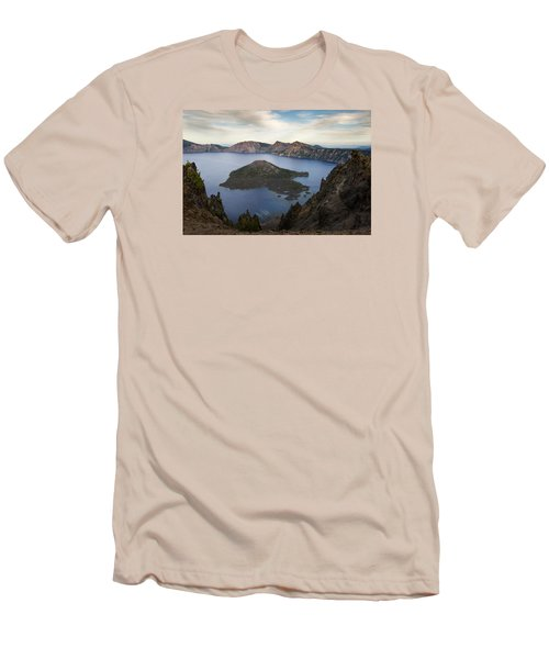 Crater Lake At Sunset Men's T-Shirt (Athletic Fit)