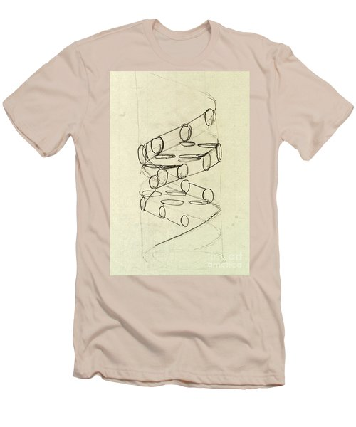 Cricks Original Dna Sketch Men's T-Shirt (Athletic Fit)