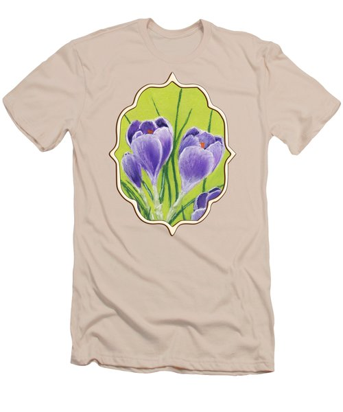 Crocus Men's T-Shirt (Slim Fit) by Anastasiya Malakhova
