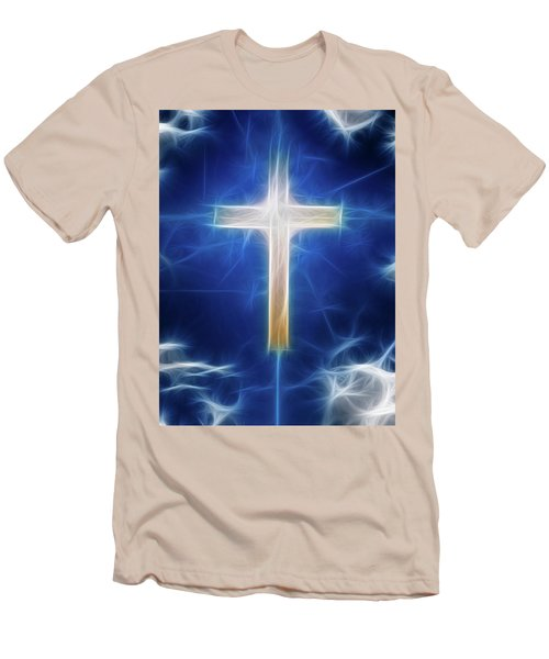 Cross Abstract Men's T-Shirt (Athletic Fit)