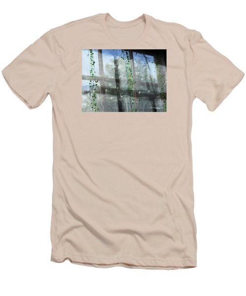 Crosses In The Window Men's T-Shirt (Slim Fit) by Cheryl Del Toro