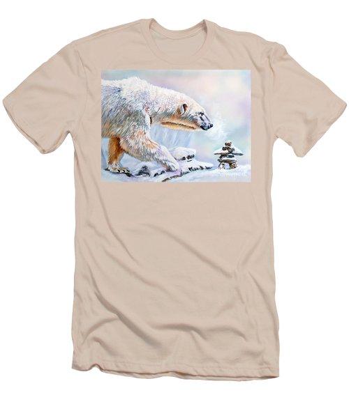 Crossroads Men's T-Shirt (Slim Fit) by J W Baker