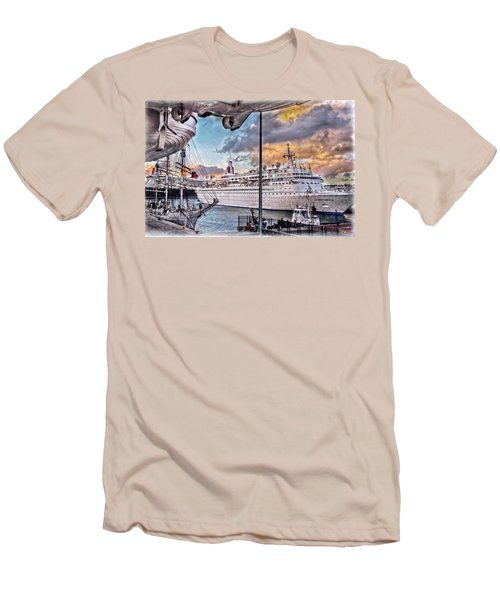 Cruise Port - Light Men's T-Shirt (Slim Fit) by Hanny Heim