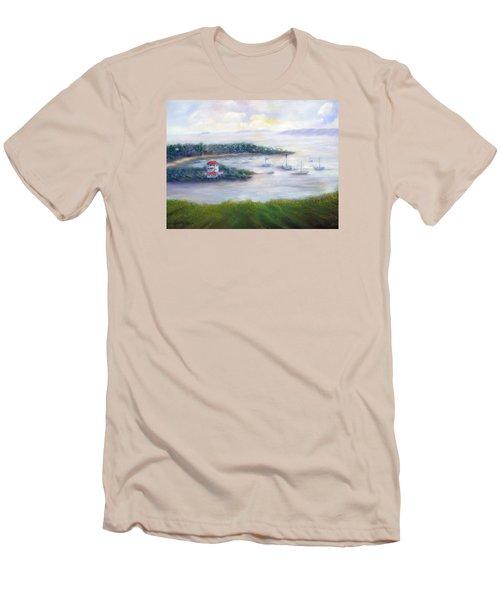 Cruz Bay Remembered Men's T-Shirt (Slim Fit) by Loretta Luglio