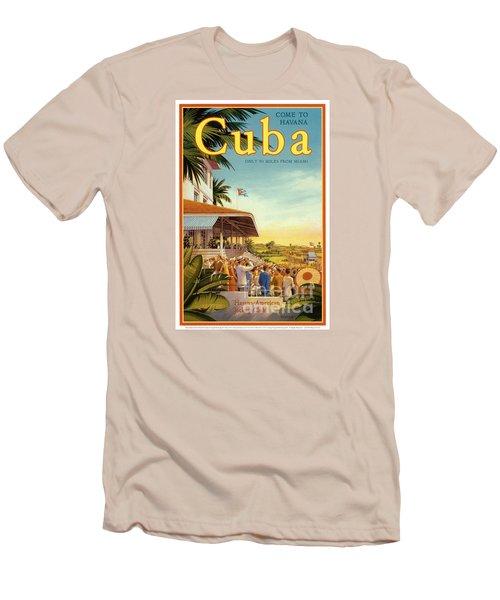 Cuba-come To Havana Men's T-Shirt (Slim Fit) by Nostalgic Prints