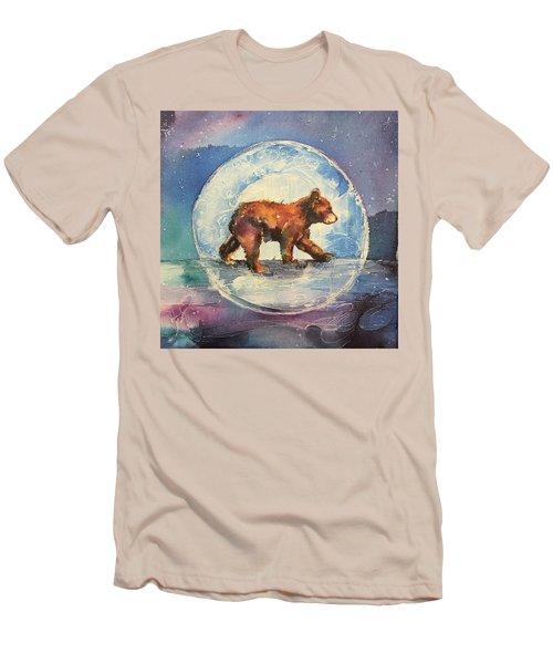 Cubbie Bear Men's T-Shirt (Slim Fit) by Christy Freeman