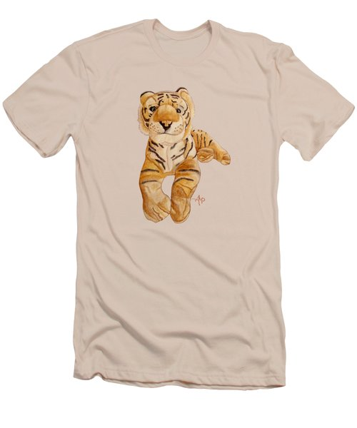 Cuddly Tiger Men's T-Shirt (Slim Fit) by Angeles M Pomata