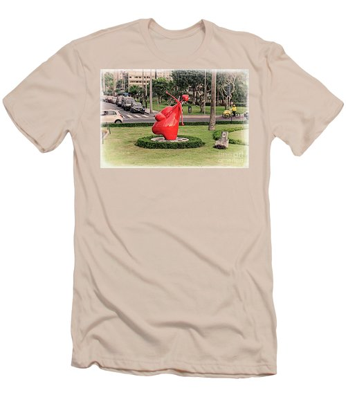 Men's T-Shirt (Slim Fit) featuring the photograph Cupid's Heart  by Mary Machare
