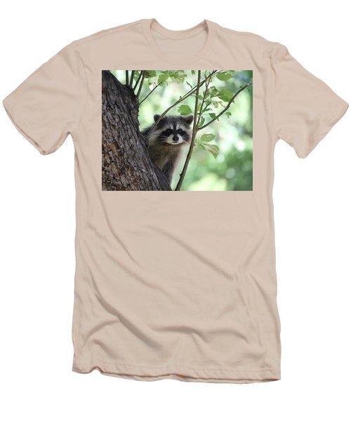 Curious But Cautious Men's T-Shirt (Slim Fit) by Doris Potter