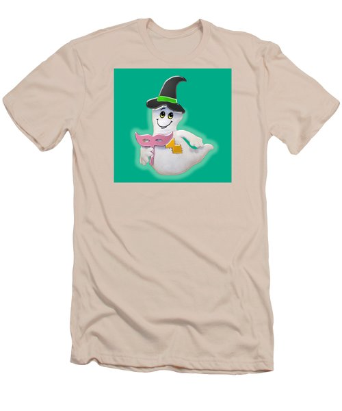 Cute Glowing Ghost Men's T-Shirt (Athletic Fit)