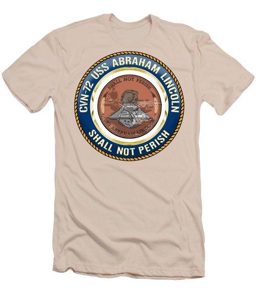 Cvn-72 Uss Abraham Lincoln Men's T-Shirt (Athletic Fit)