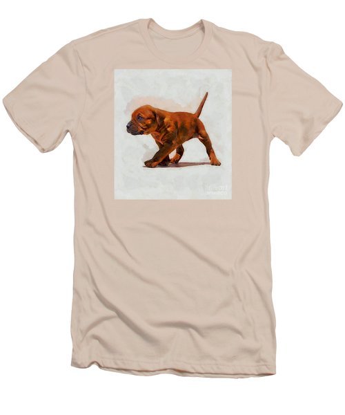 Men's T-Shirt (Slim Fit) featuring the photograph Daddies Girl by John  Kolenberg