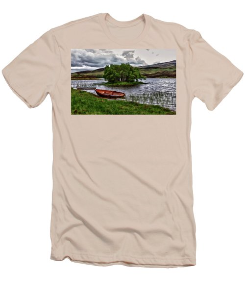 Dads Fishing Spot P D P Men's T-Shirt (Slim Fit) by David Dehner