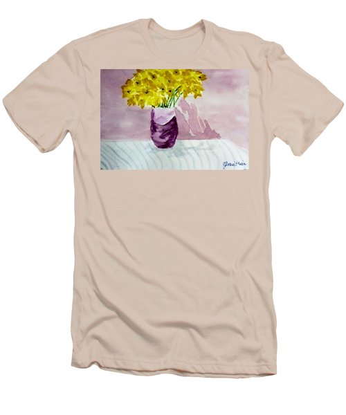 Men's T-Shirt (Slim Fit) featuring the painting Daffs by Jamie Frier