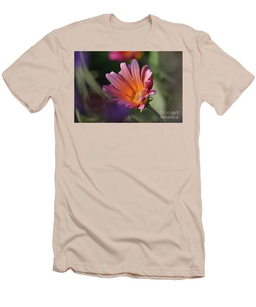 Men's T-Shirt (Slim Fit) featuring the photograph Daisy At Dusk by Debby Pueschel