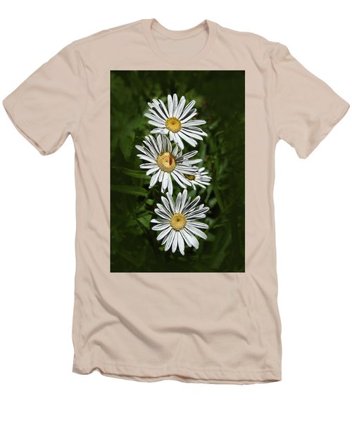 Men's T-Shirt (Slim Fit) featuring the photograph Daisy Chain by Marie Leslie