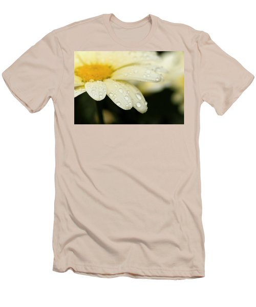 Men's T-Shirt (Slim Fit) featuring the photograph Daisy In Spring by Angela Rath