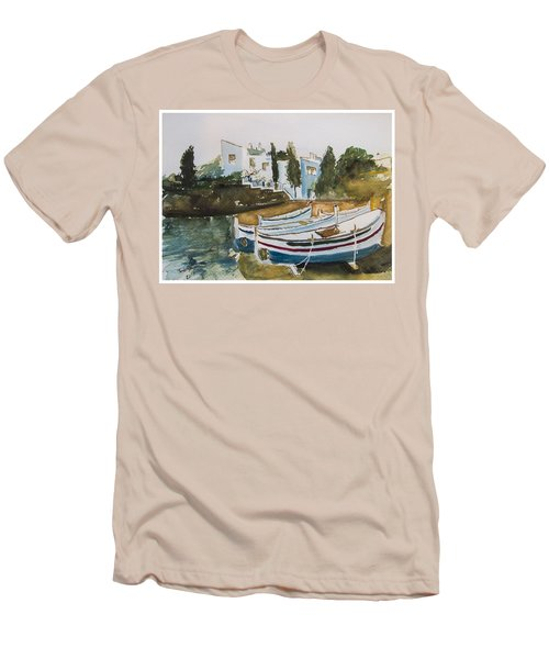 Dali House From Portlligat Men's T-Shirt (Slim Fit) by Manuela Constantin