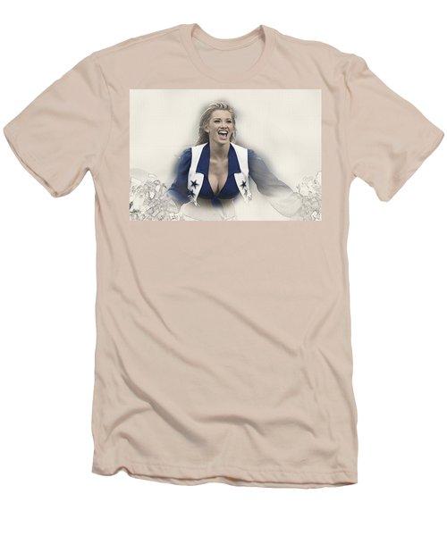 Dallas Cowboys Cheerleader Katy Marie Performs Men's T-Shirt (Athletic Fit)