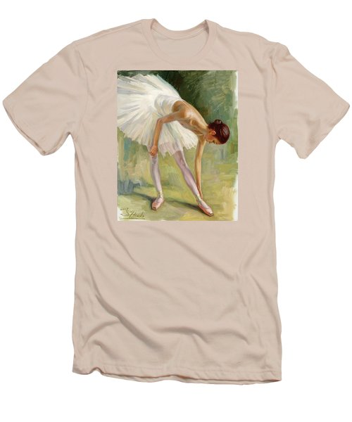 Dancer Adjusting Her Slipper. Men's T-Shirt (Athletic Fit)