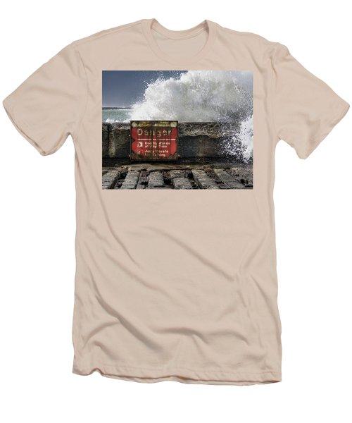 Danger Men's T-Shirt (Slim Fit) by Greg Nyquist
