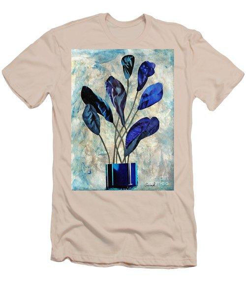 Dark Blue Men's T-Shirt (Slim Fit) by Sarah Loft