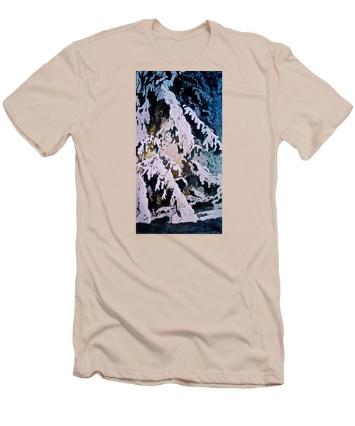 Men's T-Shirt (Slim Fit) featuring the painting Dark Cover by Carolyn Rosenberger