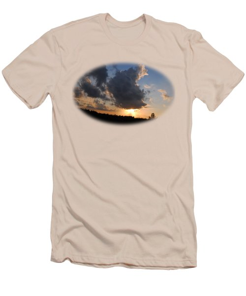 Dark Sunset T-shirt Men's T-Shirt (Slim Fit) by Isam Awad