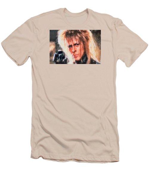 David Bowie  Men's T-Shirt (Slim Fit) by Louis Ferreira