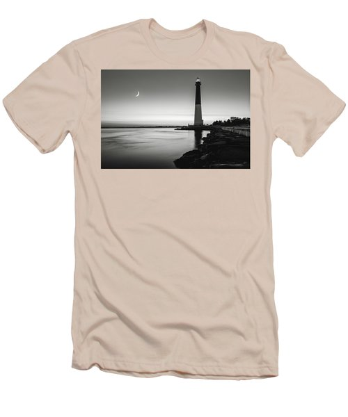 Men's T-Shirt (Slim Fit) featuring the photograph Daybreak At Barnegat, Black And White by Eduard Moldoveanu