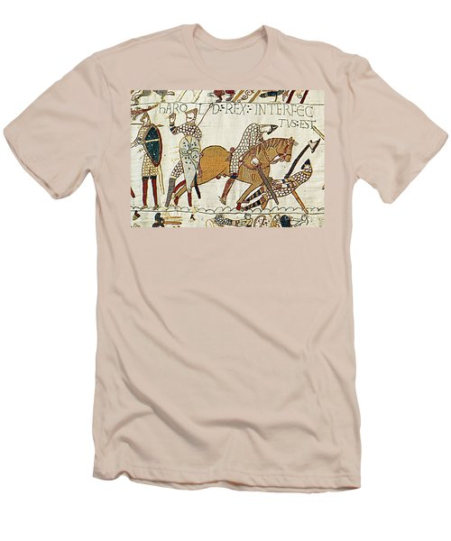 Death Of Harold, Bayeux Tapestry Men's T-Shirt (Athletic Fit)