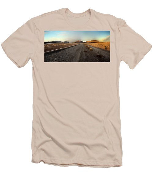 Death Valley Hitch Hiker Men's T-Shirt (Slim Fit) by Gary Warnimont