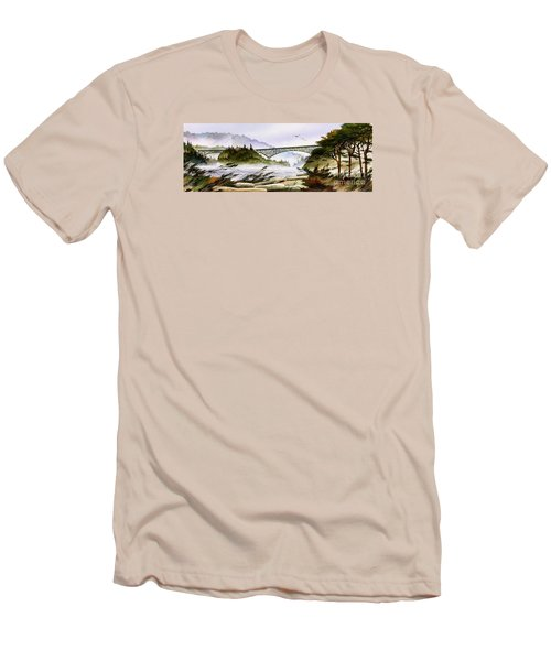 Deception Pass Bridge Men's T-Shirt (Athletic Fit)