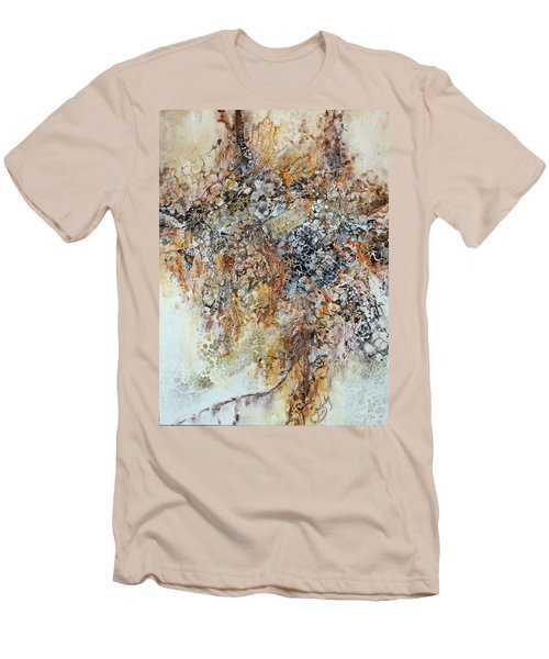 Men's T-Shirt (Slim Fit) featuring the painting Decomposition  by Joanne Smoley