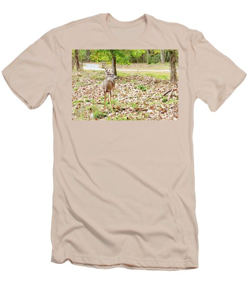 Deer Me, Are You In My Space? Men's T-Shirt (Athletic Fit)