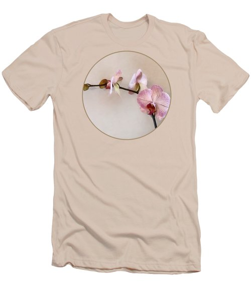 Delicate Pink Phalaenopsis Orchids Men's T-Shirt (Slim Fit) by Susan Savad